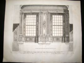 Paul Decker 1711 Folio Baroque Architectural Print. Windows 15
